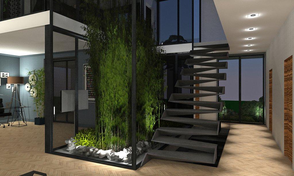 Projekt pietrowego domu jednorodzinnego